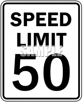 Speed Limit Sign-50 MPH