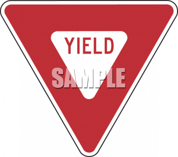 Road Sign-Yield Sign