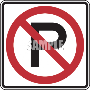 Road Sign-No Parking Symbol Sign