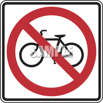 Road Sign-No Bicycles Symbol