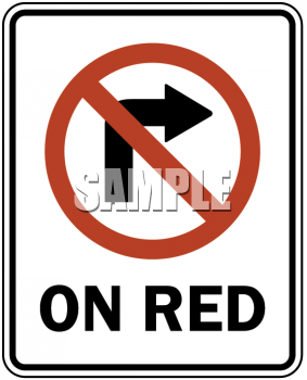 Road Signs-No Right Turn On Red