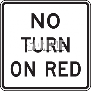 Road Sign-No Turn on Red