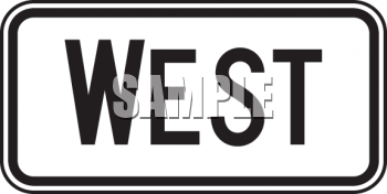 Directional Road Sign-West