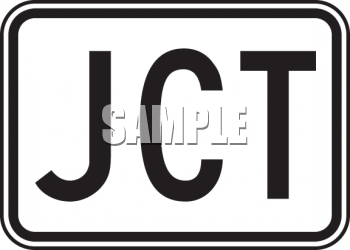 Road Sign-Junction JCT