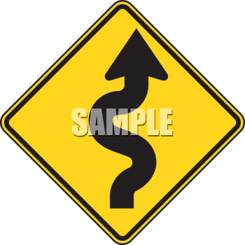 royalty free clipart image road sign curvy road ahead symbol rh clipartguide com road sign clip art free road signs clip art images