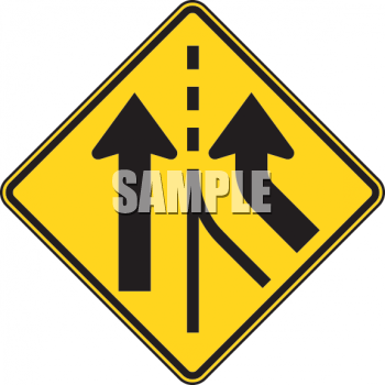 Road Sign-Road Merges