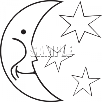 black and white moon and stars royalty free clip art picture rh clipartguide com moon and stars clip art free moon and stars clipart png