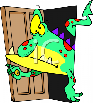 monster coming out of a closet royalty free clipart image rh clipartguide com closet door clipart closet clipart png