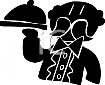 Silhouette of a Butler