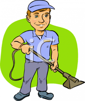 Carpet Cleaning Service Worker