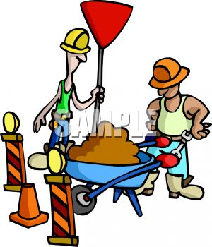 construction workers with a wheelbarrow royalty free clip art image rh clipartguide com free clipart construction workers cartoon construction worker clip art images