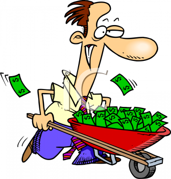 man with a wheelbarrow full of money cartoon royalty free clipart rh clipartguide com  animated monkey clip art free