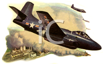 Vintage Style-Bomber Plane