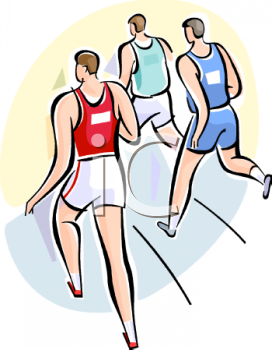 Teens Running a Race at a Track and Field Event