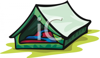 Tent with Sleeping Bags Inside