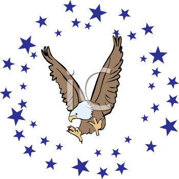 Eagle Surrounded by Stars