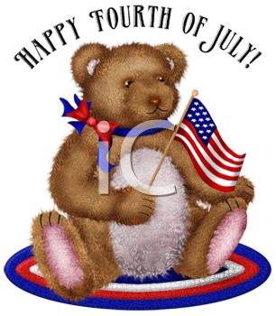 4th of July Patriotic Teddy Bear