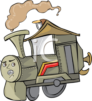 Cartoon Train with a Face