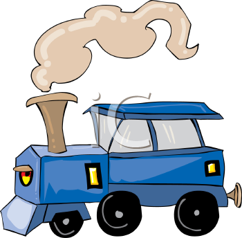 "This ""cartoon train"" clip art image is available as part of a low cost"