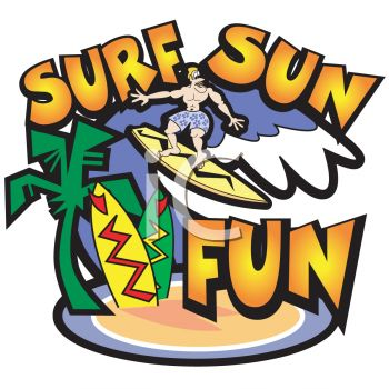 Surf and Sun Logo Graphic