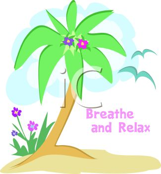 Palm Tree Relax Logo Graphic
