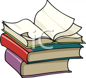 open book on top of a stack royalty free clipart image rh clipartguide com tall stack of books clipart stack of school books clipart