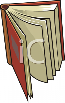 open book royalty free clipart picture
