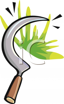 Garden Tool Hand Scythe Royalty Free Clipart Picture