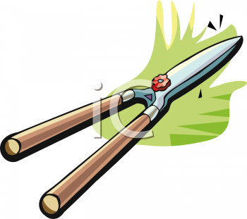 Garden Tool-Hedge Clippers - Royalty Free Clip Art Picture