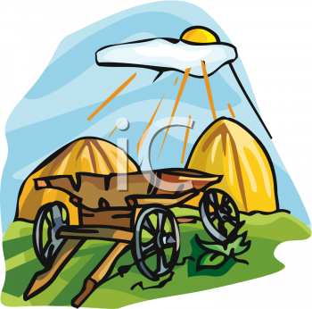hay wagon with haystacks royalty free clip art picture rh clipartguide com hay wagon clipart Carnival Clip Art