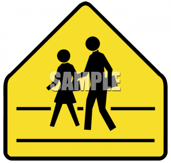 Yellow Crosswalk Sign
