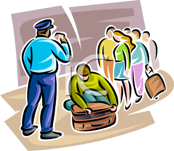 airport security guard checking passenger bags royalty free rh clipartguide com security clipart security clipart images