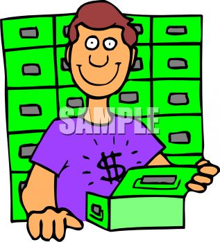 Man Getting Into His Safety Deposit Box