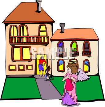 kids going trick or treating on halloween royalty free clip art rh clipartguide com
