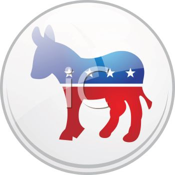 Political Party Symbol - The Democrat Donkey Icon