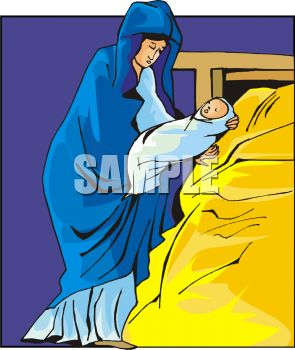 Nativity Scene - Mother Mary with Baby Jesus