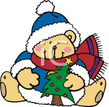 Bear Holding Christmas Tree