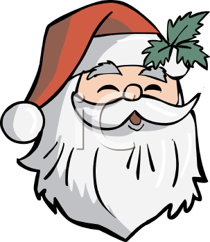 jolly santa claus face royalty free clip art illustration rh clipartguide com happy santa face clip art santa face silhouette clip art
