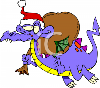 Dragon Carrying Sack Of Presents