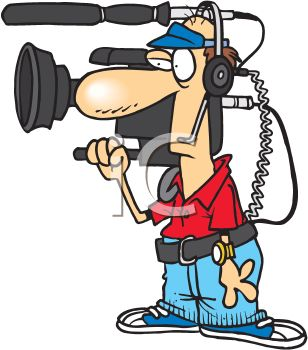 A Cartoon Television Cameraman