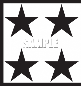 Four Black and White Stars