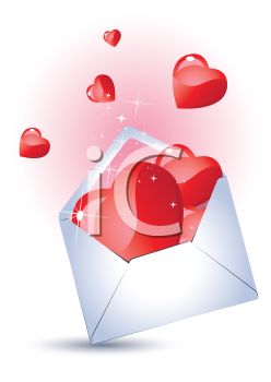 Sparkling Hearts in an Envelope