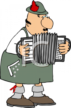 Polka Musician Playing the Accordion