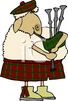 sheep musician playing the bagpipes royalty free clip art illustration rh clipartguide com bagpipes clipart man playing bagpipes clipart