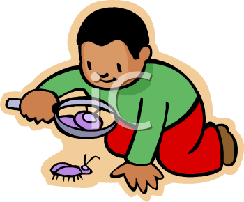 Boy looking at a bug under a magnifying glass royalty free clip boy looking at a bug under a magnifying glass royalty free clip art picture voltagebd Gallery