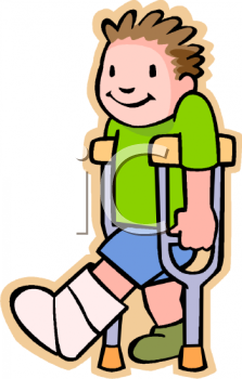 boy with a broken leg in a cast royalty free clipart image rh clipartguide com broken bone clipart
