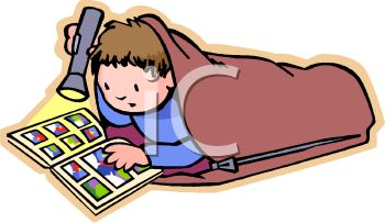 boy reading a a comic book by flashlight royalty free clipart picture rh clipartguide com Library Center Clip Art Super Hero Reading Clip Art