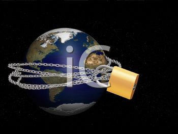 Chain and Lock Around the Earth