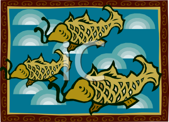 Oriental Fish in a Japanese Design