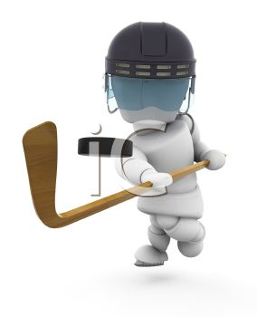 3D Robot Playing Hockey